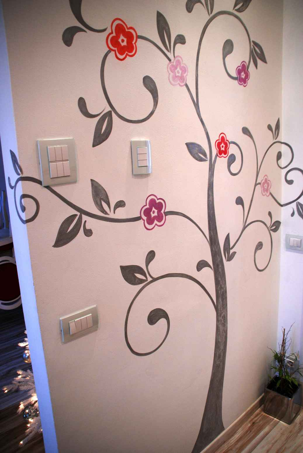 Arianna colombo decorations restoration trompe l 39 oeil - Albero su parete ...