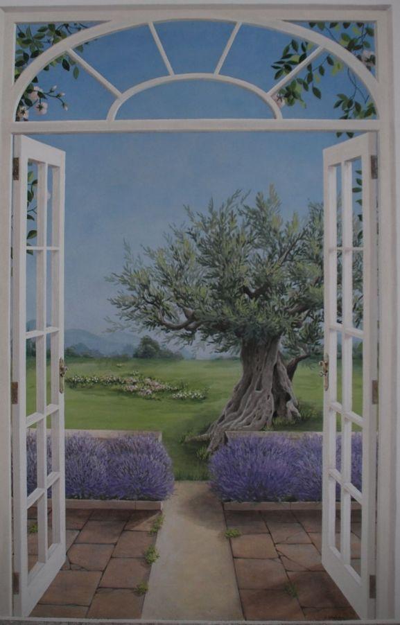 Arianna colombo decorations restoration trompe l 39 oeil interior decoration planning kids - Trompe l oeil finestra ...